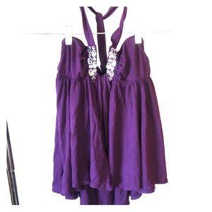 Purple halter top